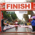Amane Gobenas zweiter Sieg am Bospurus war zu keinem Zeitpunkt gefährdet. © Istanbul Marathon