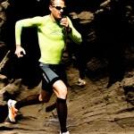 Die Kompressionsbekleidung von X-Bionic unterstützt die Muskulatur beim Laufen