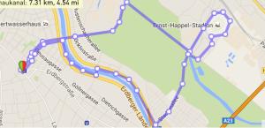 Bridge Running Rochusgasse - Prater - Stadion - Donaukanal