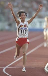 Qu Junxia, hier bei ihrem WM-Titel in Stuttgart 1993, hielt bis vergangenen Sommer 22 Jahre lang den Weltrekord über 1.500m. © getty images
