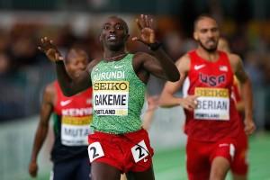 Im Vorlauf erreichte Antoine Gakeme das Ziel noch vor Boris Berian, im Finale wendete der US-Amerikaner das Blatt. © Getty Images for IAAF / Christian Petersen