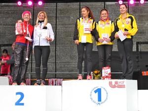 Silbermedaille bei den Österreichischen Meisterschaften im Marathon für Club RunAustria mit Andrea Sommerauer, Edith Schmid-Tatzreiter und Sabine Panosch (nicht im Bild)