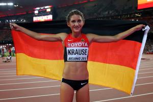 Bei den Weltmeisterschaften in Peking schaffte Gesa Felicitas Krause mit ihrer Bronzemedaille für das herausragende Ergebnis der deutschen Läufer. © Getty Images for IAAF / Alexander Hassenstein
