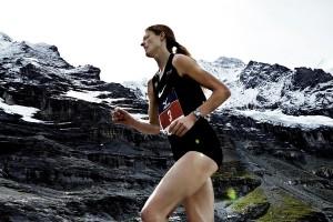 Andrea Mayr beim Jungfrau Marathon 2013. © SIP / Johannes Langer