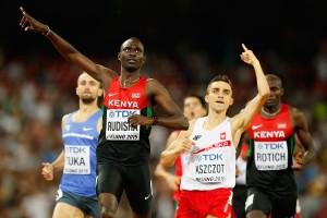 David Rudisha gewann im Vorjahr WM-Gold in Peking vor Adam Kszczot. © Getty Images for IAAF / Christian Petersen