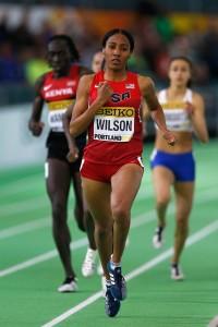 Ajee Wilson gewann bei den Hallen-Weltmeisterschaften in Portland die Silbermedaille. © Getty Images for IAAF / Christian Petersen