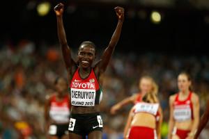 Olympia-Gold fehlt noch in der Sammlung der erfolgreichen Vivian Cheruiyot. © Getty Images for IAAF / Christian Petersen