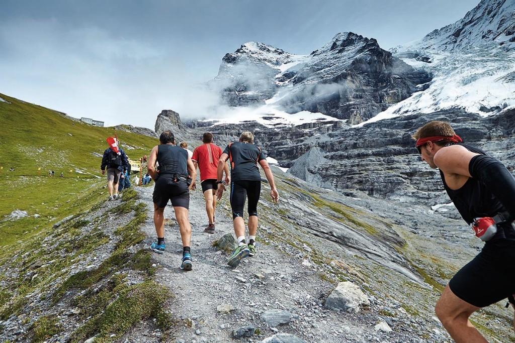 Das wunderschöne Panorama des wahrscheinlich schönsten Bergmarathons der Welt, dem Jungfrau Marathon. © SIP / Johannes Langer