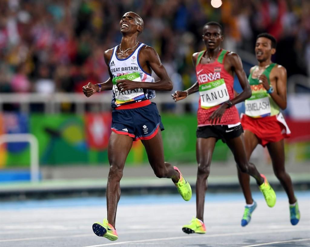 Mo Farah ist vierfacher Olympiasieger, hier bei seinem Triumph in Rio 2016 über 10.000m. © Getty Images