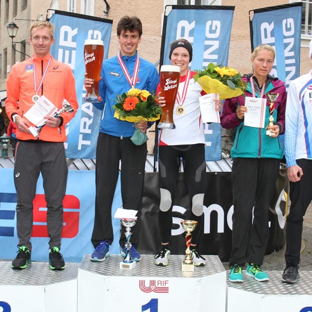 Fünf der sechs Medaillengewinner von 2016 sind auch bei den ÖLV-Halbmarathon-Staatsmeisterschaften 2017 am Start. © Jedermannlauf / Uwe Brandl