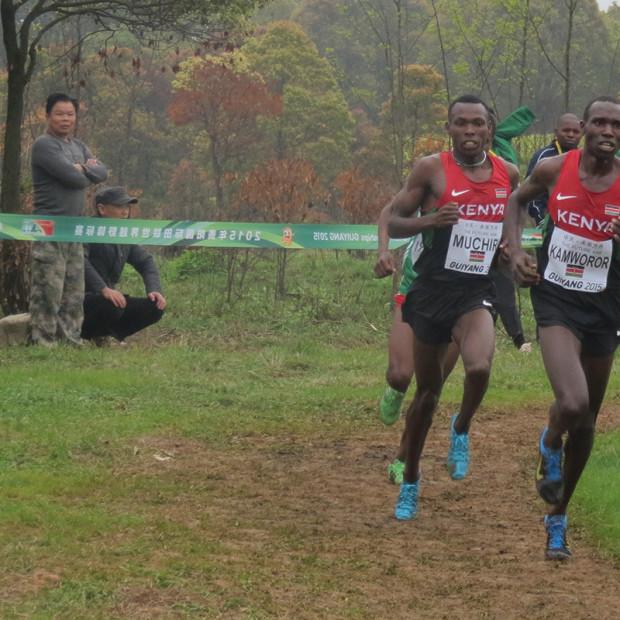 Bei den Crosslauf-Weltmeisterschaften vor zwei Jahren dominierte das kenianische Duo Geoffrey Kamworor und Bedan Karoki das Rennen der Herren. © SIP / René van Zee