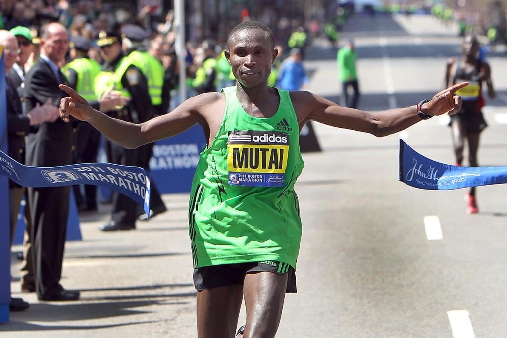 Geoffrey Mutai beim Boston Marathon 2011. © Getty Images