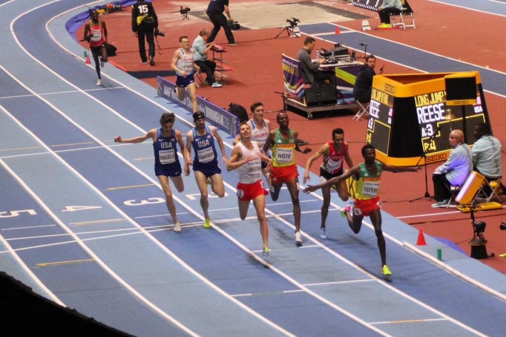 Spannendes Finale im 1.500m-Lauf der Herren. © SIP / René van Zee