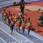 Äthiopien dominierte die Laufbewerbe in Birmingham –hier im 3.000m-Lauf der Herren. © SIP / René van Zee