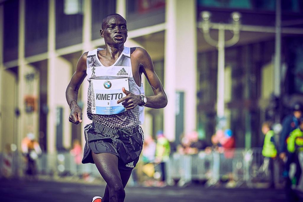 Sein Weg zum Weltrekord beim Berlin Marathon 2014. © SIP / Johannes Langer