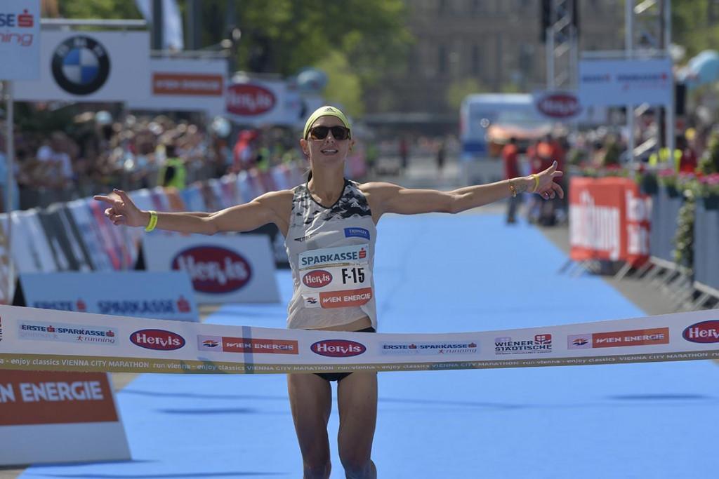Trotz des verpassten Limits, gelungenes Marathon-Debüt für Eva Wutti. © VCM / Herbert Neubauer